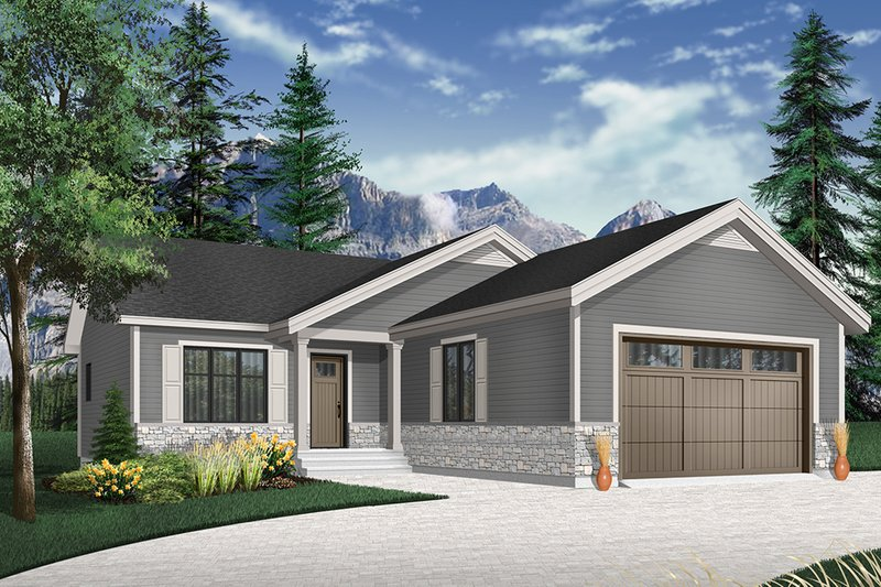 Home Plan - Country Exterior - Front Elevation Plan #23-2695