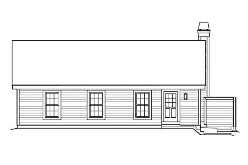 Farmhouse Exterior - Rear Elevation Plan #57-383 - Houseplans.com