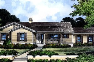 Ranch Exterior - Front Elevation Plan #417-189