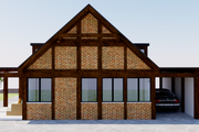 Modern Style House Plan - 2 Beds 1 Baths 543 Sq/Ft Plan #542-8 Exterior - Rear Elevation