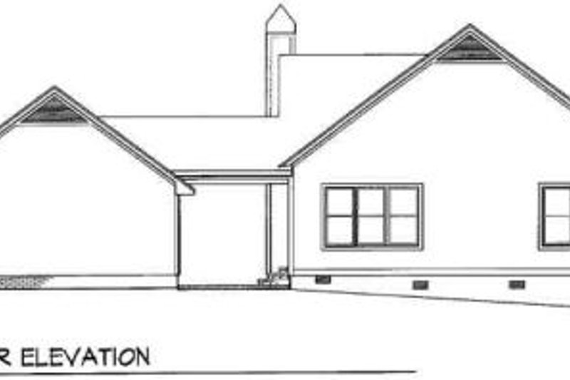 Traditional Exterior - Rear Elevation Plan #41-176 - Houseplans.com