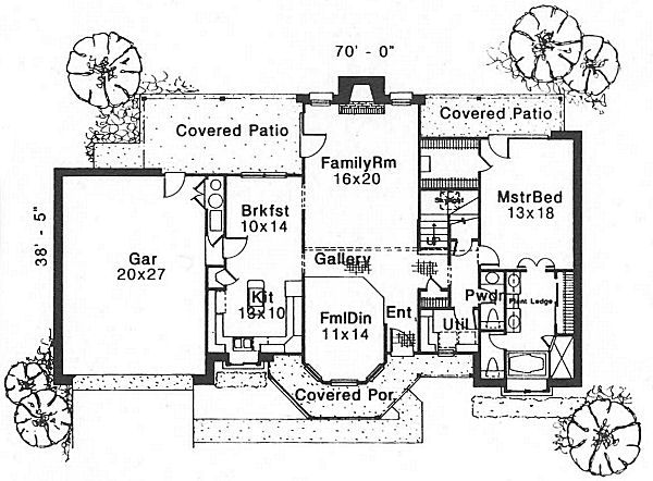 Farmhouse Floor Plan - Main Floor Plan Plan #310-614