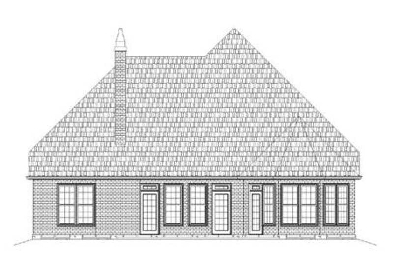 Tudor Exterior - Rear Elevation Plan #119-335 - Houseplans.com