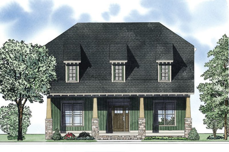 Home Plan - Bungalow Exterior - Front Elevation Plan #17-2407
