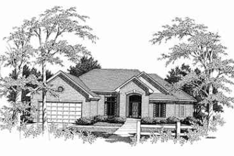 Traditional Exterior - Front Elevation Plan #70-345 - Houseplans.com