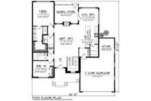 Ranch Floor Plan - Main Floor Plan Plan #70-1237