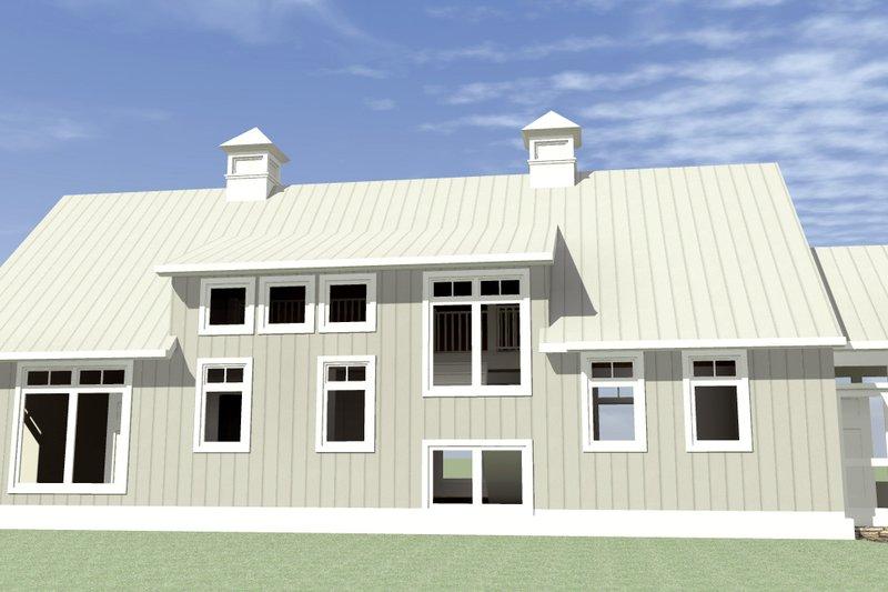 Farmhouse Exterior - Rear Elevation Plan #64-215 - Houseplans.com