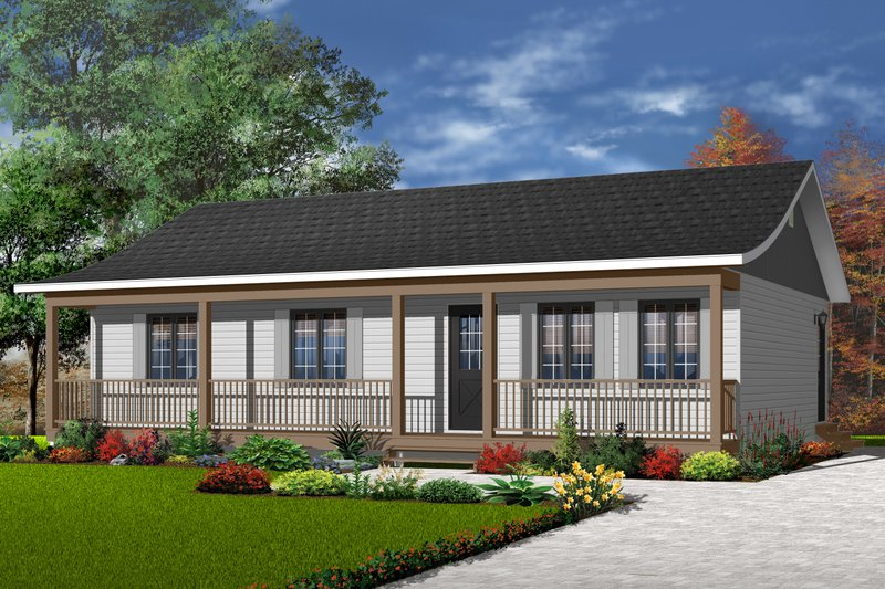 Dream House Plan - Ranch Exterior - Front Elevation Plan #23-676