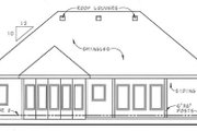 Southern Style House Plan - 2 Beds 2 Baths 1685 Sq/Ft Plan #312-662 Exterior - Rear Elevation