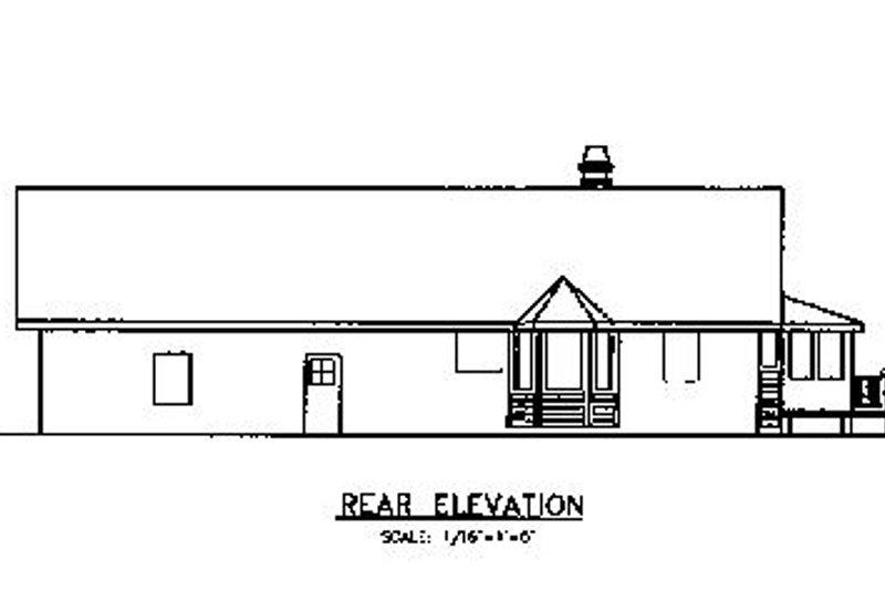 Country Exterior - Rear Elevation Plan #60-618 - Houseplans.com