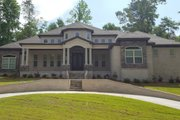 Mediterranean Style House Plan - 4 Beds 4.5 Baths 3599 Sq/Ft Plan #63-428 Exterior - Front Elevation