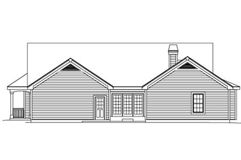 Farmhouse Exterior - Rear Elevation Plan #57-178 - Houseplans.com