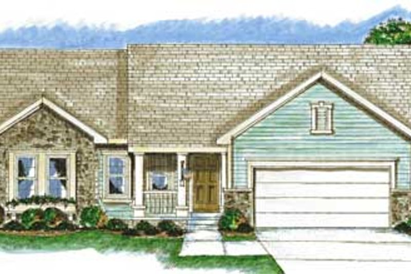Traditional Exterior - Front Elevation Plan #20-1371 - Houseplans.com