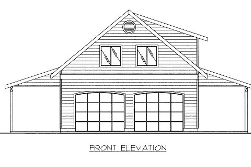 Country Style House Plan - 1 Beds 1 Baths 783 Sq/Ft Plan #117-749 Exterior - Front Elevation