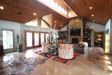 Architectural House Design - Contemporary Interior - Family Room Plan #17-2551