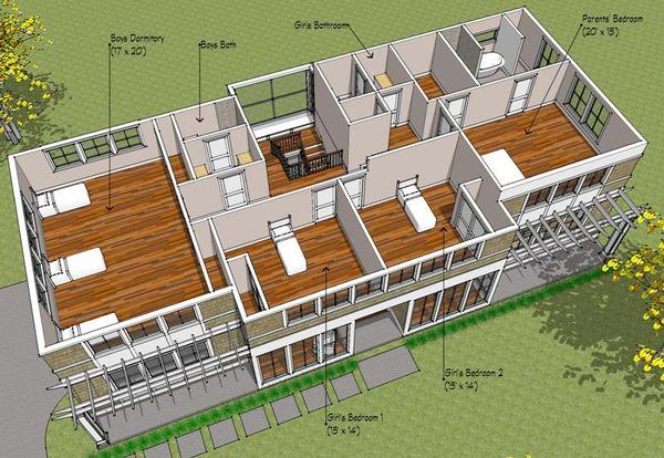 Prairie Floor Plan - Upper Floor Plan Plan #481-3