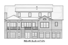 Home Plan - Classical Exterior - Rear Elevation Plan #1054-52
