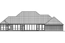 Home Plan - Traditional Exterior - Rear Elevation Plan #84-397
