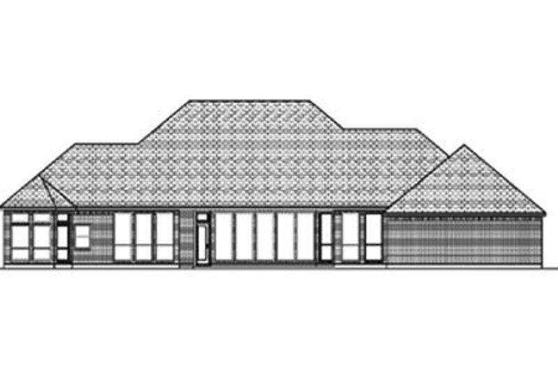 Traditional Exterior - Rear Elevation Plan #84-397 - Houseplans.com