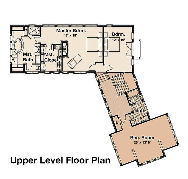 Craftsman Floor Plan - Upper Floor Plan #908-1