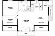 Traditional Style House Plan - 2 Beds 1 Baths 880 Sq/Ft Plan #126-161 Floor Plan - Upper Floor