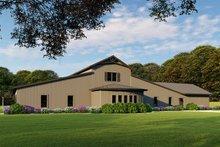 Farmhouse Exterior - Rear Elevation Plan #923-114