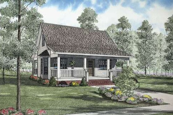 Cottage Exterior - Front Elevation Plan #17-2139