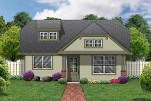 Cottage Exterior - Front Elevation Plan #84-446