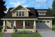 Craftsman Style House Plan - 4 Beds 3.5 Baths 2265 Sq/Ft Plan #461-39 Exterior - Front Elevation