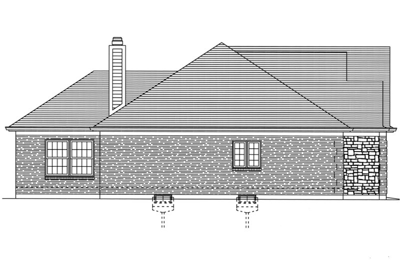 Traditional Exterior - Other Elevation Plan #46-373 - Houseplans.com