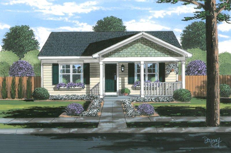House Plan Design - Cottage Exterior - Front Elevation Plan #46-906