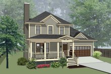 Southern Exterior - Front Elevation Plan #79-168