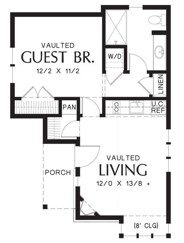 Cottage Floor Plan - Main Floor Plan Plan #48-645