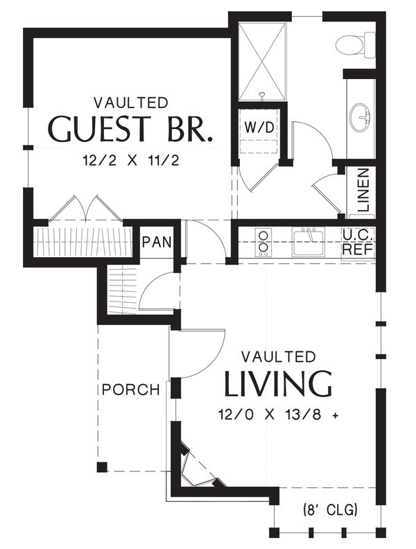 House Plan Design - Cottage Floor Plan - Main Floor Plan #48-645