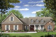 Traditional Style House Plan - 3 Beds 2.5 Baths 2000 Sq/Ft Plan #21-244 Exterior - Front Elevation