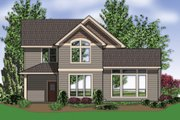Craftsman Style House Plan - 3 Beds 2.5 Baths 2079 Sq/Ft Plan #48-118 Exterior - Rear Elevation