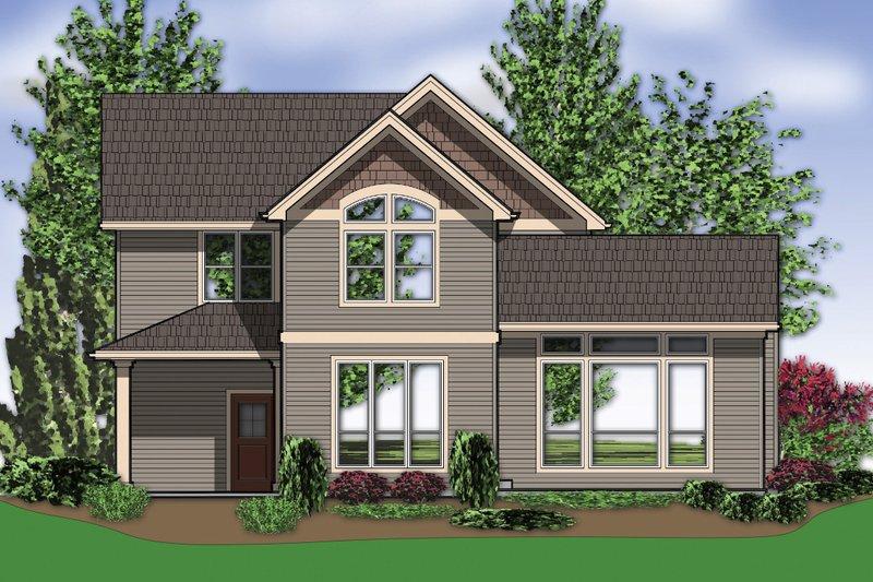 Craftsman Exterior - Rear Elevation Plan #48-118 - Houseplans.com
