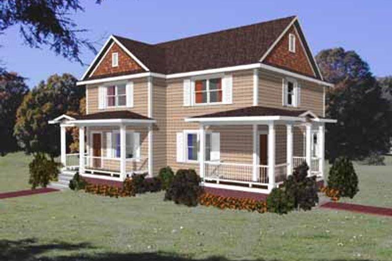 Dream House Plan - Craftsman Exterior - Front Elevation Plan #79-237