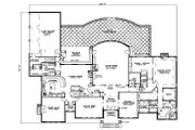 European Style House Plan - 5 Beds 6.5 Baths 7045 Sq/Ft Plan #17-1177 Floor Plan - Main Floor