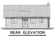 Cabin Style House Plan - 2 Beds 1 Baths 799 Sq/Ft Plan #18-162 Exterior - Rear Elevation