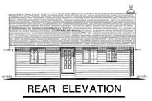 Cabin Exterior - Rear Elevation Plan #18-162