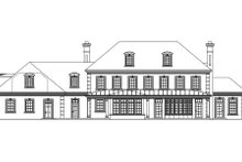 Home Plan - Traditional Exterior - Rear Elevation Plan #124-463