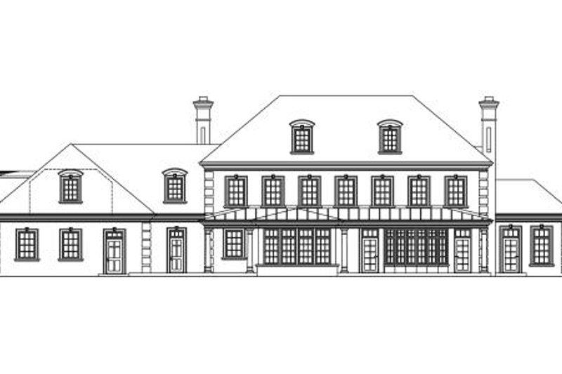 Traditional Exterior - Rear Elevation Plan #124-463 - Houseplans.com