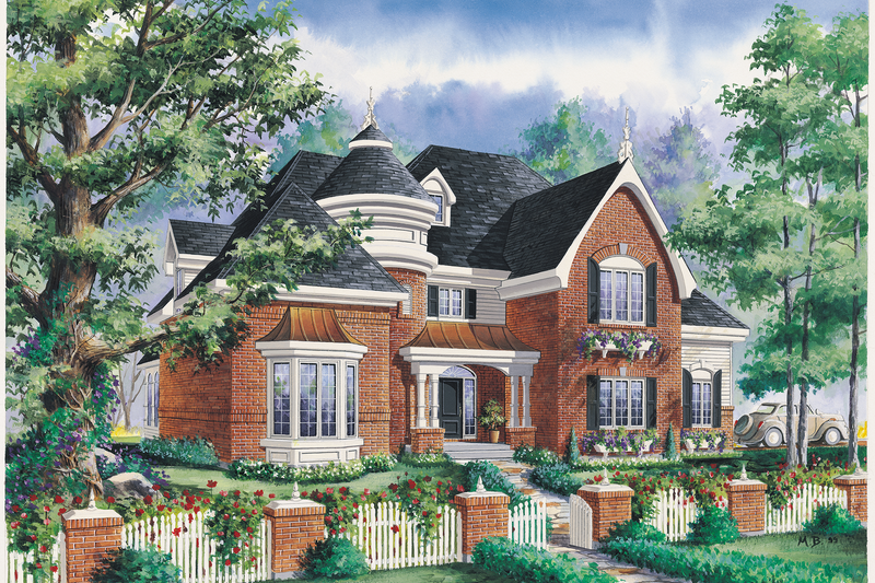 Victorian Style House Plan - 3 Beds 2 Baths 3663 Sq/Ft Plan #25-4775 Exterior - Front Elevation