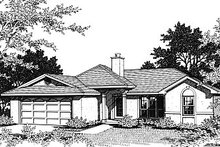 Mediterranean Exterior - Front Elevation Plan #14-148