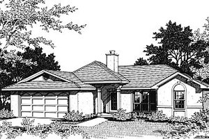 Dream House Plan - Mediterranean Exterior - Front Elevation Plan #14-148