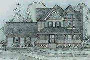 Victorian Style House Plan - 3 Beds 2.5 Baths 2813 Sq/Ft Plan #31-137 Exterior - Front Elevation
