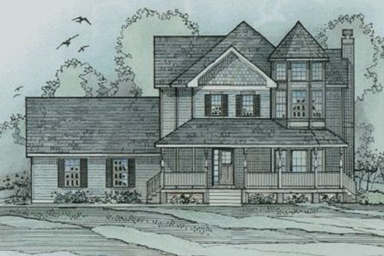 Victorian Exterior - Front Elevation Plan #31-137