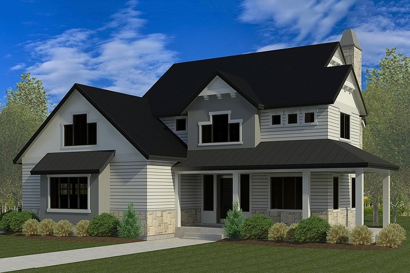 Dream House Plan - Craftsman Exterior - Front Elevation Plan #920-35