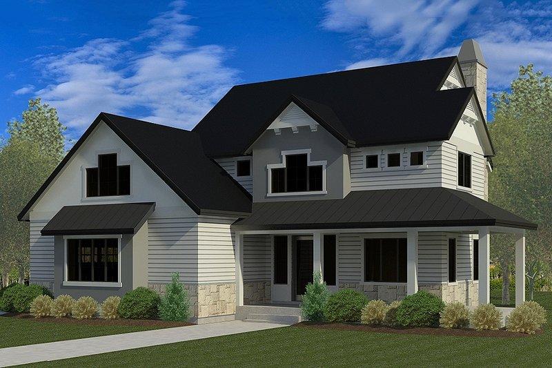 Dream House Plan - Craftsman Exterior - Front Elevation Plan #920-35